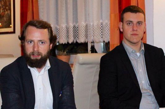 Josef Girshovich und Patrick Liesener beim Stammtisch der CDU Lichtenrade am 30.10.2014.