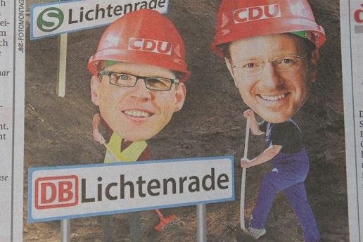 Das Engagement von Jan-Marco Luczak für die Dresdner Bahn ließ die B.Z. vermuten, dass er gemeinsam mit Florian Graf den Tunnel notfalls selbst graben würde.