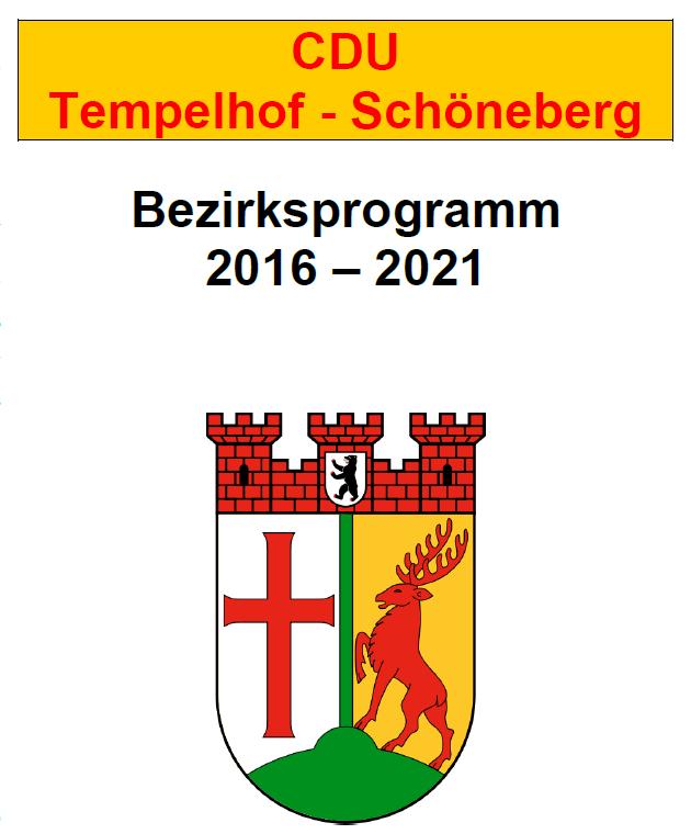 Stark für Tempehof-Schöneberg - das Bezirksprogramm für 2016 bis 2021