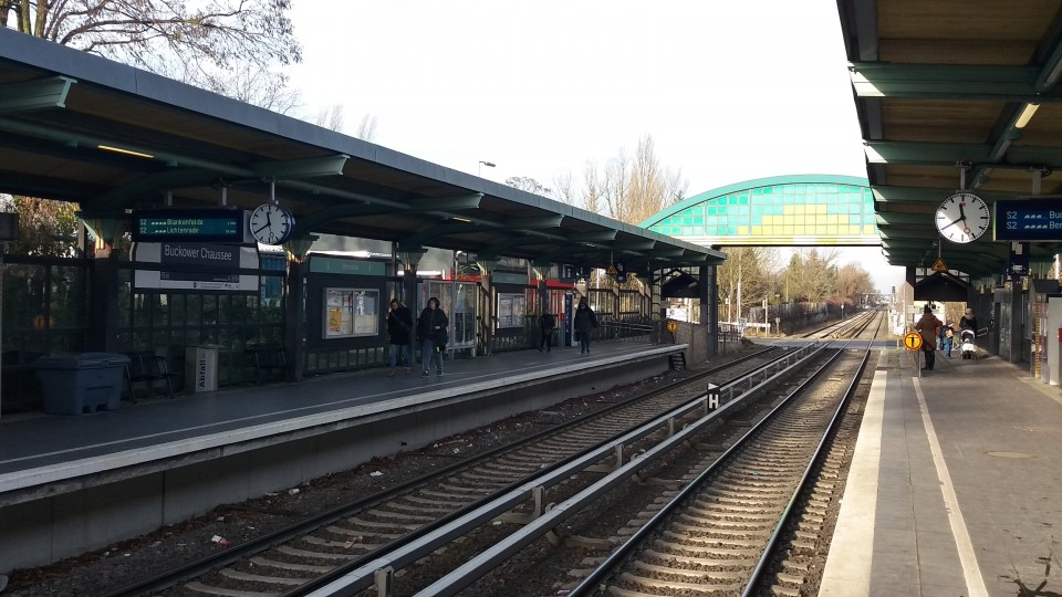 Der S-Bahnhof Buckower Chaussee in Berlin-Marienfelde. Foto: Christan Zander
