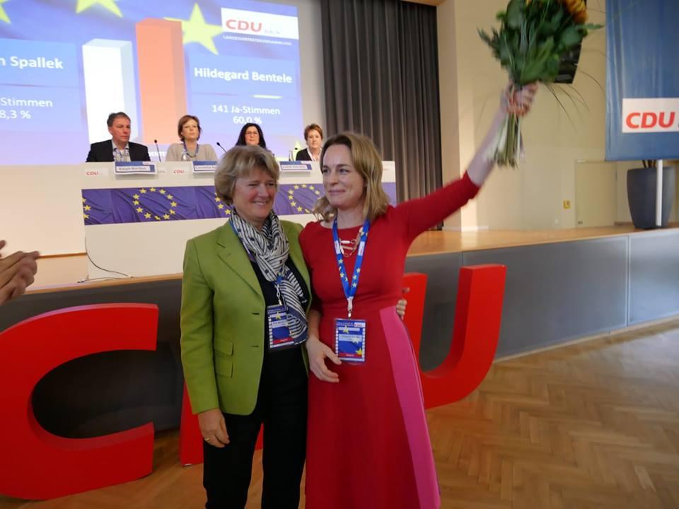 Landesvorsitzende Monika Grütters und Spitzenkandidatin Hildegard Bentele - Quelle: CDU Berlin