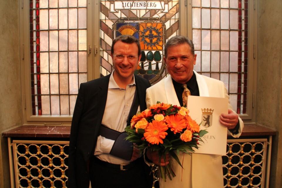 Dr. Jan-Marco Luczak mit Judo-Legende Lothar Nest